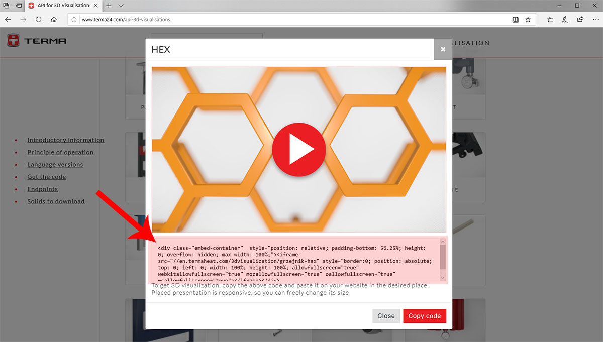How to add 3D Visualization to your web page | TERMA