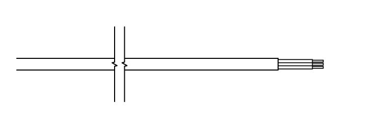 P - kabel prosty bez wtyczki