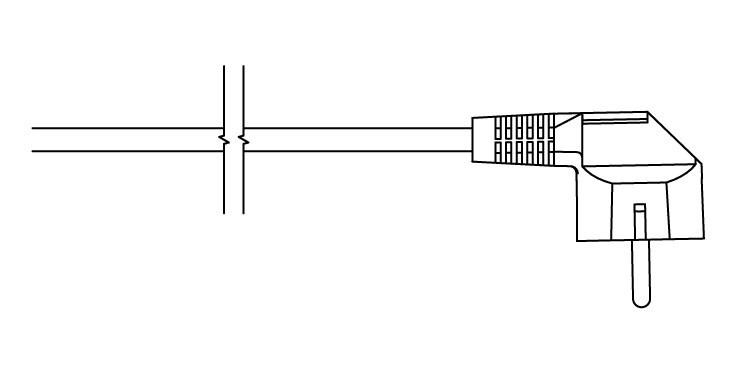W - kabel prosty z wtyczką